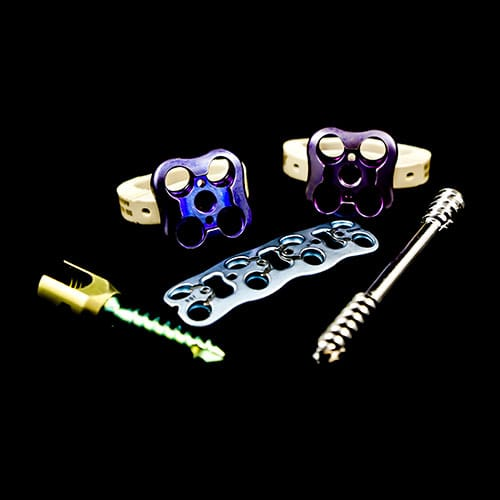 Surgical metal parts